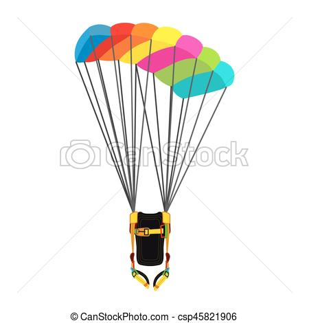 Skydiving clipart paragliding Pack flat Skydiving of opened