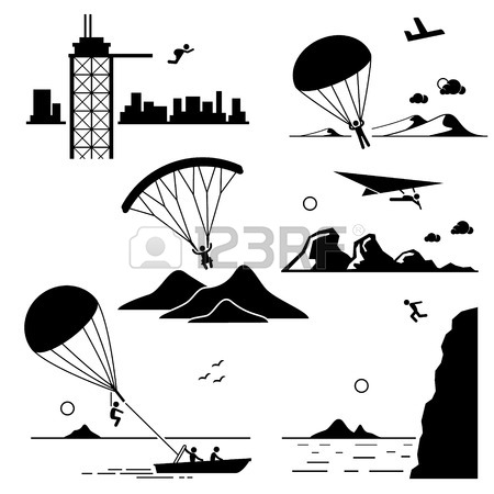 Skydiving clipart paragliding Cliff Parasailing Hang Gliding Extreme