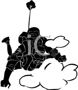 Skydiving clipart Girl Skydiving Silhouette Clipart Clipart