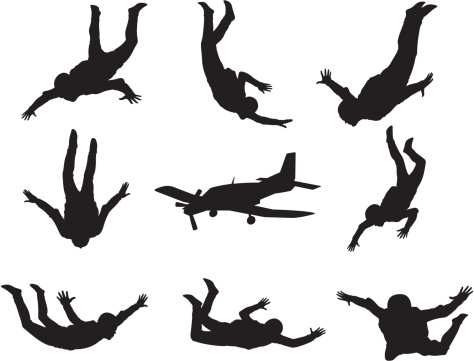 Skydiving clipart hang gliding Cartoon Tattoos this on Pin