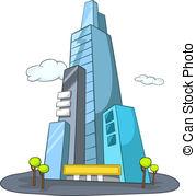 Skyscraper clipart commercial building Skyscraper  Illustrations 501 Skyscraper