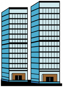 Skyscraper clipart skyline building Clip Pair Art Skyscrapers Of