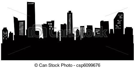 Miami clipart charlotte skyline Skyline Skyline Cartoon csp6099676 of