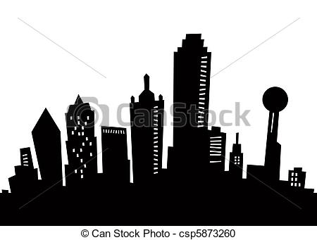 Miami clipart dallas skyline Cartoon Silhouette Cartoon Stock Dallas