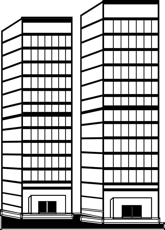Skyscraper clipart apartment building Coloring Skyscraper Download coloring Skyscraper