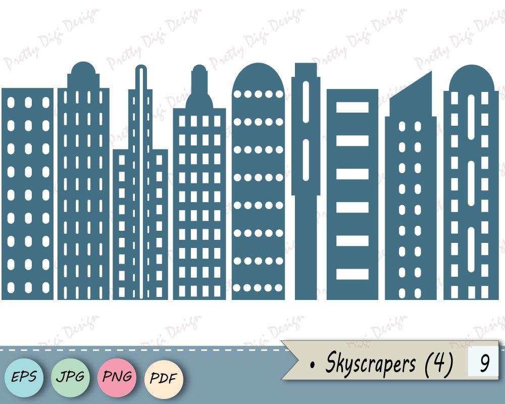 Skyscraper clipart apartment building Buildings EPS This  City