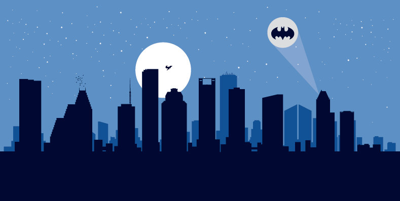 Skyscraper clipart chicago Art print Houston to Batman