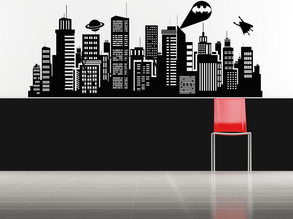 Skyscraper clipart batman SUPERHERO com FOR VINYL Gotham