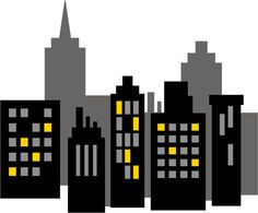 Skyscraper clipart batman Super Cityscape Heróis Superhero Superhero