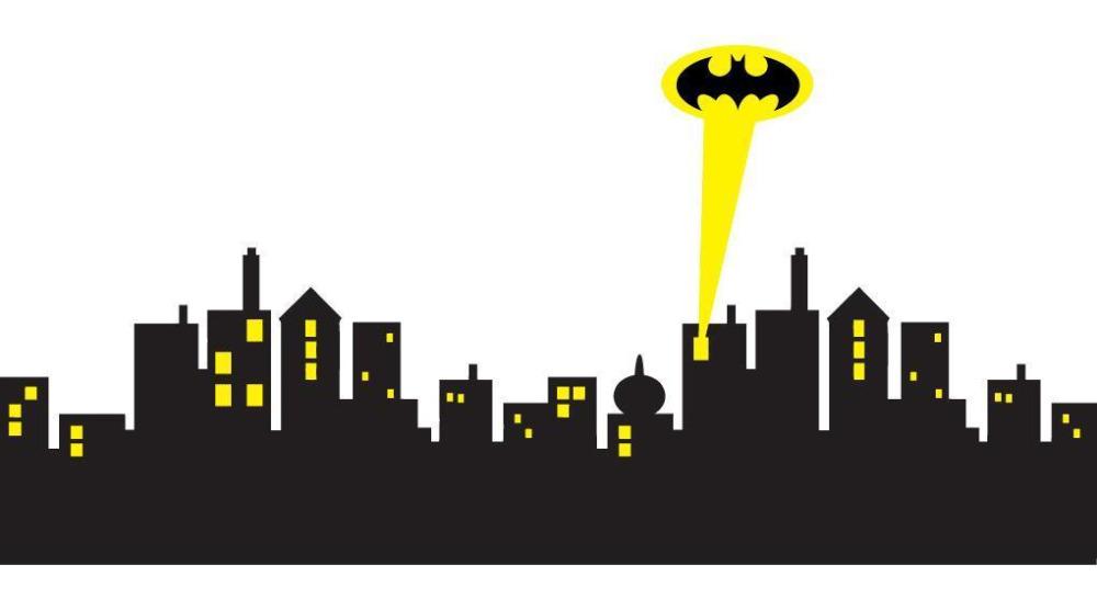 Building clipart gotham city Aliexpress Art STICKER Online Batman
