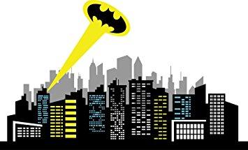Skyscraper clipart batman Chic Skyline Decal Logo Skyline