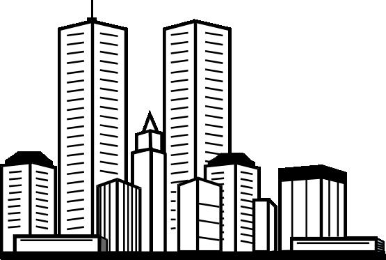 Skyscraper clipart Download Skyscraper Black Clipart And