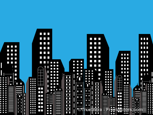 Skyscraper clipart building background Buildings Free Vectors Building Background