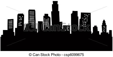 Los Angeles clipart Los Angeles Skyline Clipart #15