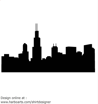 Skyscraper clipart chicago Pinterest silhouette skyline  y