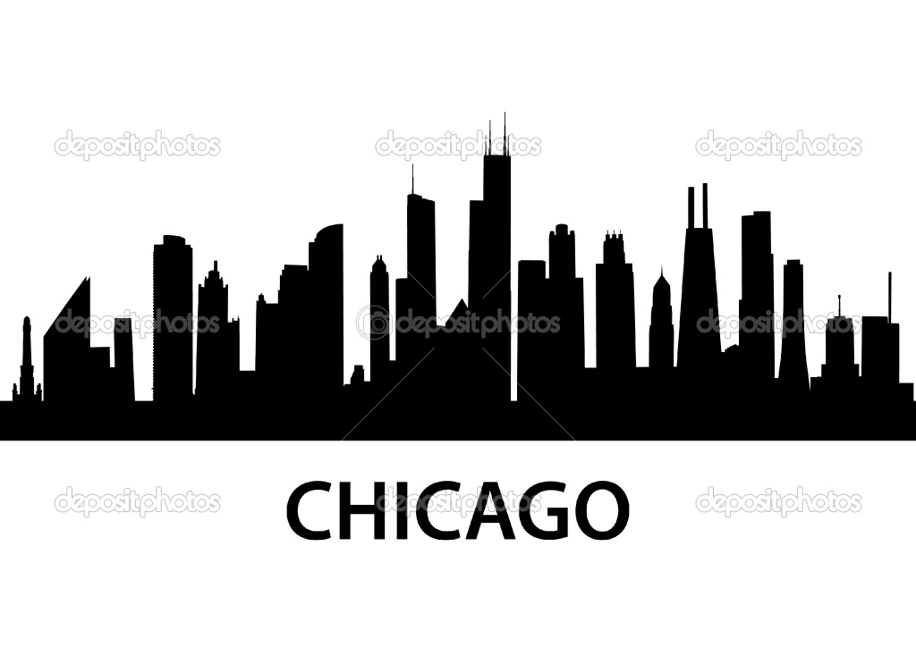 Skyscraper clipart chicago 3rd Search outline  skyline