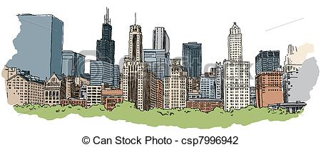 Skyscraper clipart chicago Portion of csp7996942 of the