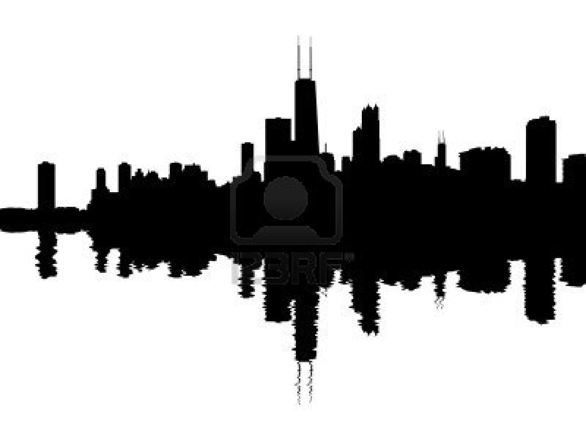 Skyscraper clipart chicago Of shutterstock Description silhouette