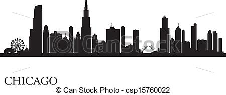Skyscraper clipart chicago Skyline Chicago skyline silhouette background
