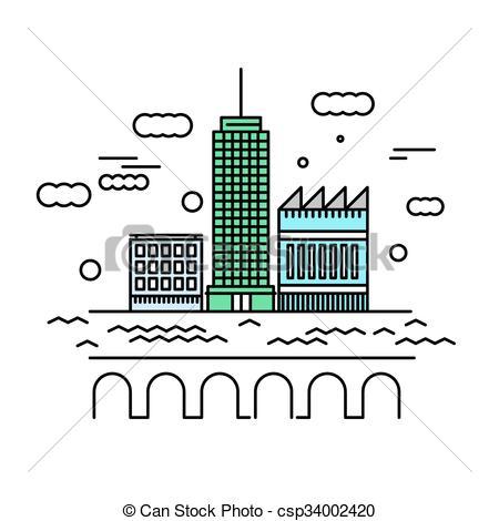 Skyscraper clipart city landscape Building architecture skyscraper vector Urban