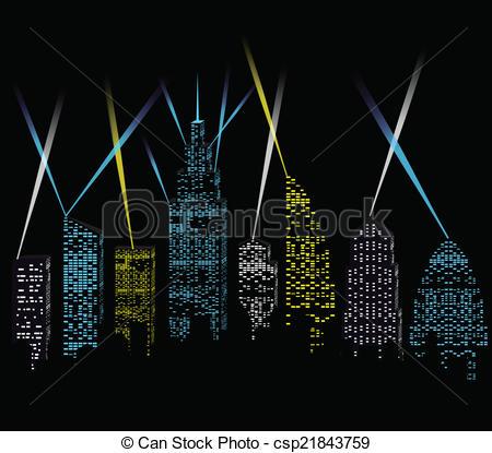 Skyscraper clipart city light Royalty Image Free city City