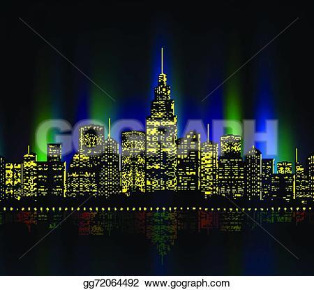 Skyscraper clipart city light EPS colourful gg72064492 EPS colourful