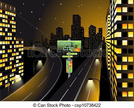 Skyscraper clipart city light Of csp10738422 City Clipart Lights