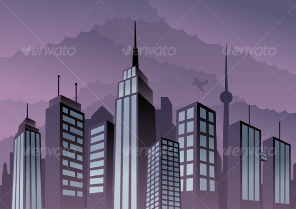 Skyscraper clipart city building Cartoon Cityscape vector Cartoon and