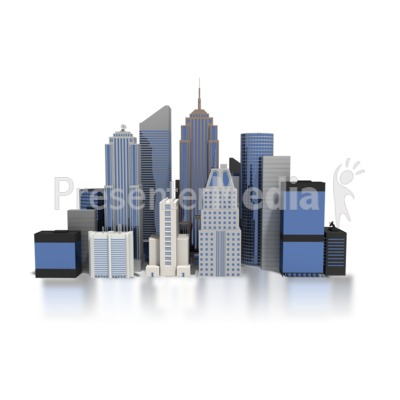 Skyscraper clipart comic book Downtown Business Clipart Clip PowerPoint