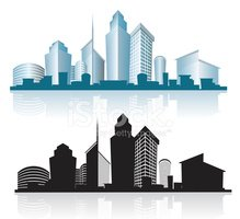 Skyscraper clipart generic With City offices and city