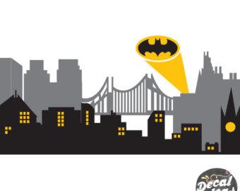 Batman clipart city skyline New New York Gotham City