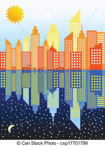 Skyscraper clipart modern city Clipart clip City  Vector