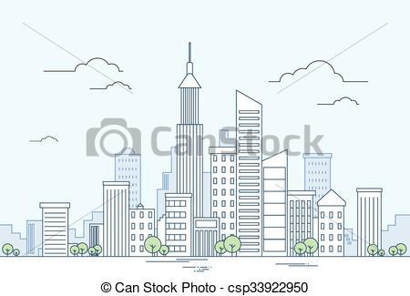Skyscraper clipart modern city Megalopolis View Vector Skyscraper Megalopolis