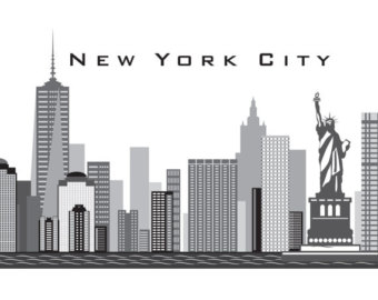 Skyscraper clipart ny skyline Freedom up Removable Skyline NEW