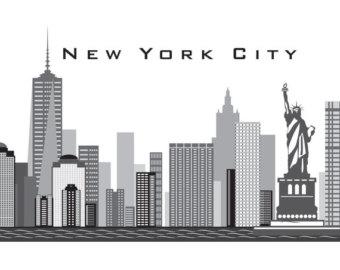 Skyscraper clipart ny skyline Freedom up  YORK City