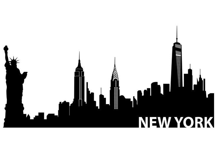 Skyscraper clipart ny skyline Skyline Pinterest york skyline silhouette