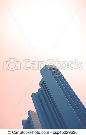 Skyscraper clipart pink Abstract  of Sky With