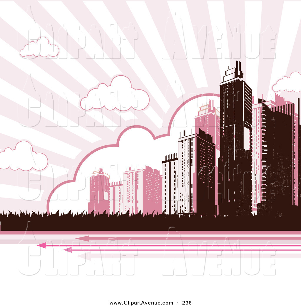 Skyscraper clipart pink In Tall Under Group Buildings