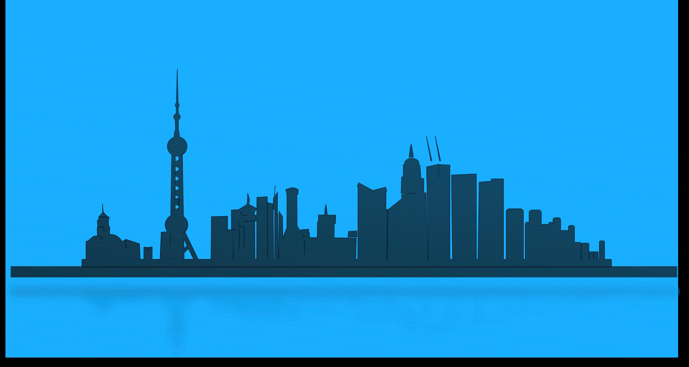 Skyscraper clipart shanghai Skyline Shanghai city skyline city