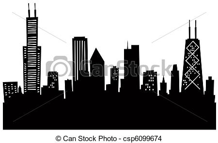 Skyscraper clipart silhouette Art  and Skyline silhouette