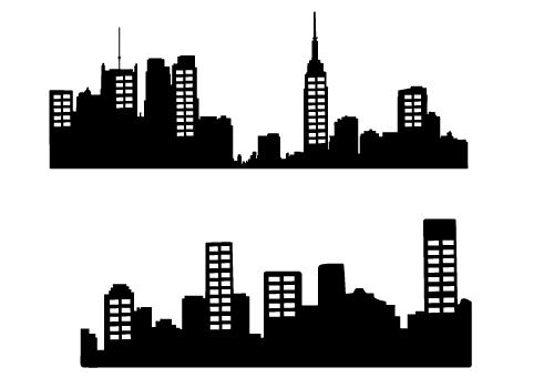 Skyscraper clipart silhouette Skyline Silhouette Free – City