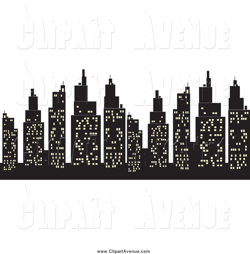 Skyscraper clipart silhouette Designs Stock Royalty Silhouetted with