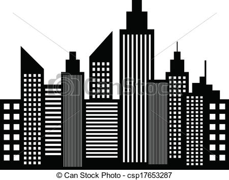 Skyscraper clipart silhouette Silhouettes Skyscrapers of Modern Buildings