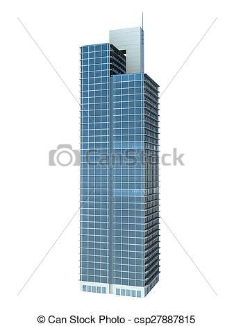 Single clipart skyscraper Illustration  Stock isolated skyscraper