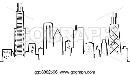 Skyscraper clipart sketch Drawing gg58882596 Drawing skyline