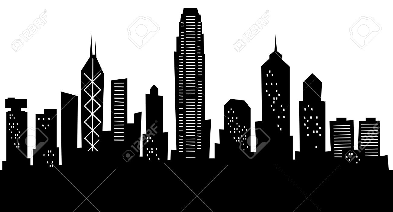 Skyscraper clipart skyline building City Hong The Hong Stock