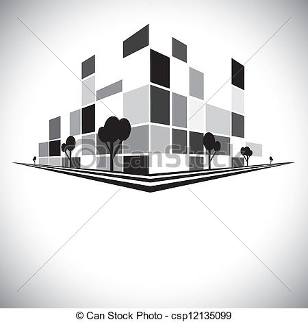 Skyscraper clipart skyline building Vectors Buildings w skyline &