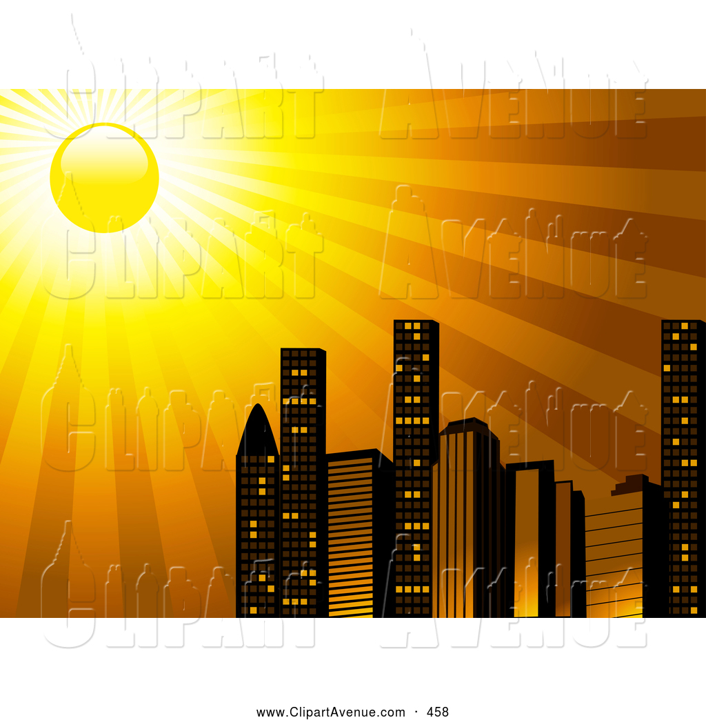 Skyscraper clipart skyline building Avenue of Brightly City The