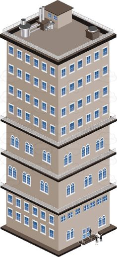 Skyscraper clipart tower building City Background A Brown Down