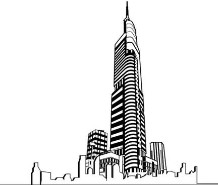 Tower clipart skyscraper #1